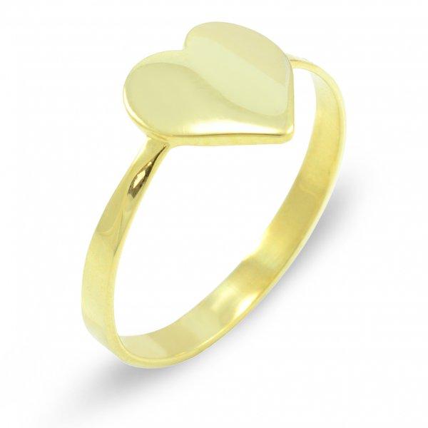 Prsteň zo žltého zlata - srdce