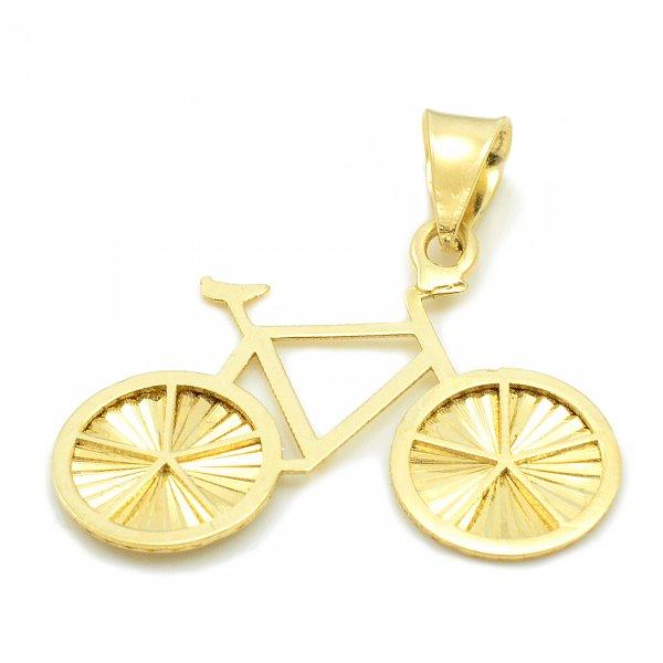 Prívesok zo žltého zlata - Bicykel