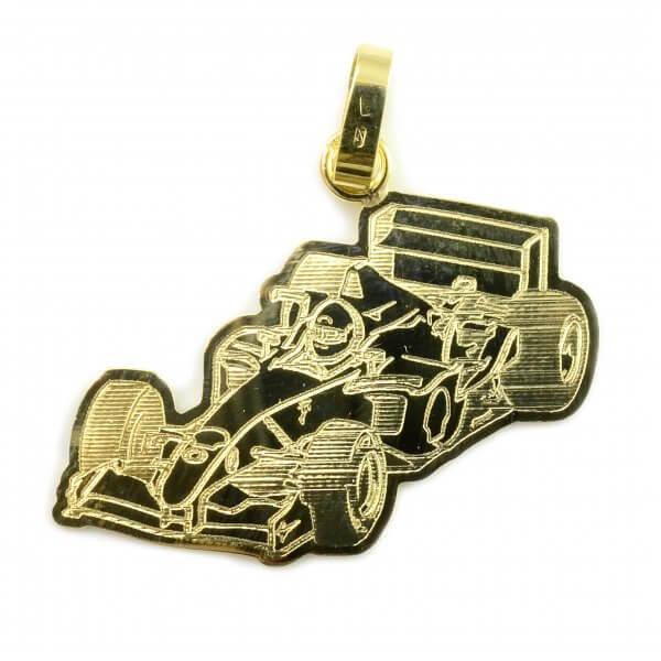 Prívesok zo žltého zlata - Formula