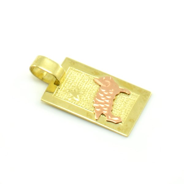 Zlatý platničkový prívesok-znamenie baran