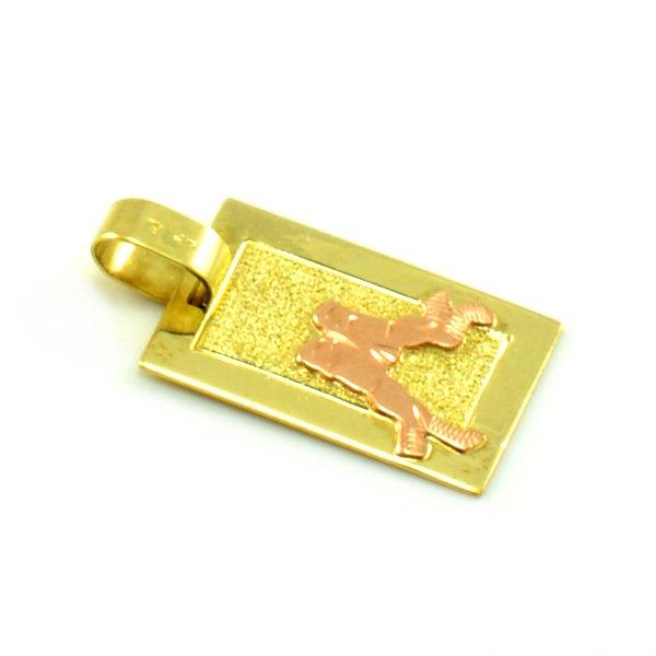 Zlatý platničkový prívesok-znamenie blíženci