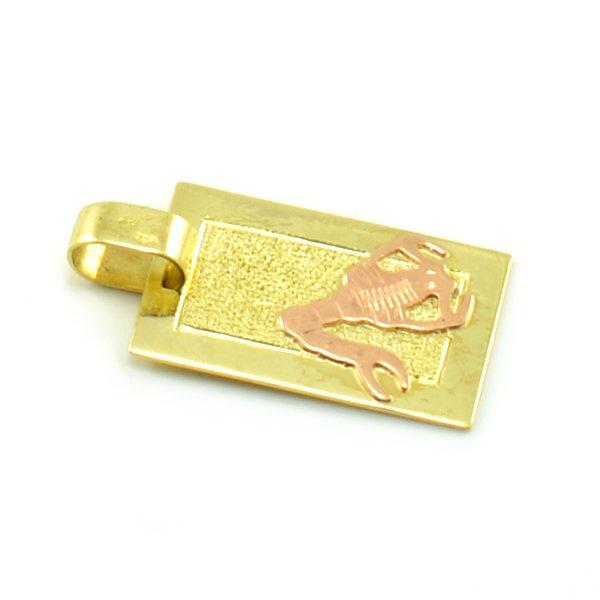 Zlatý platničkový prívesok-znamenie škorpión