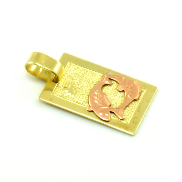Zlatý platničkový prívesok-znamenie ryby