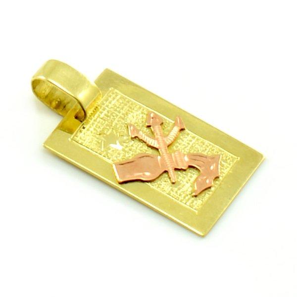 Zlatý platničkový prívesok-znamenie vodnár