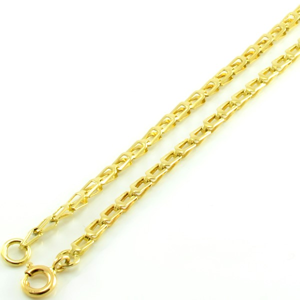 Náhrdelník zo žltého zlata-veľké obdĺžniky