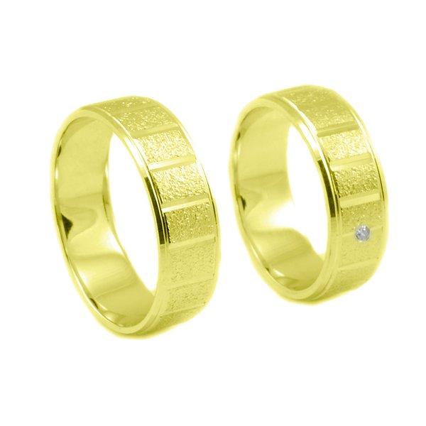 Svadobné obrúčky zo žltého zlata s drážkami