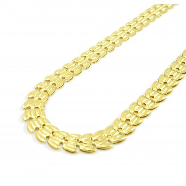 Retiazka zo žltého zlata- plastické články