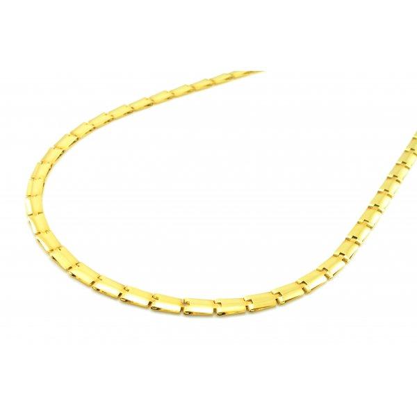 Retiazka zo žltého zlata- plochá obojstranná