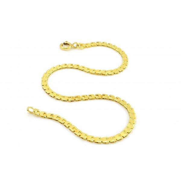 Náhrdelník zo žltého zlata - pancierový vzor