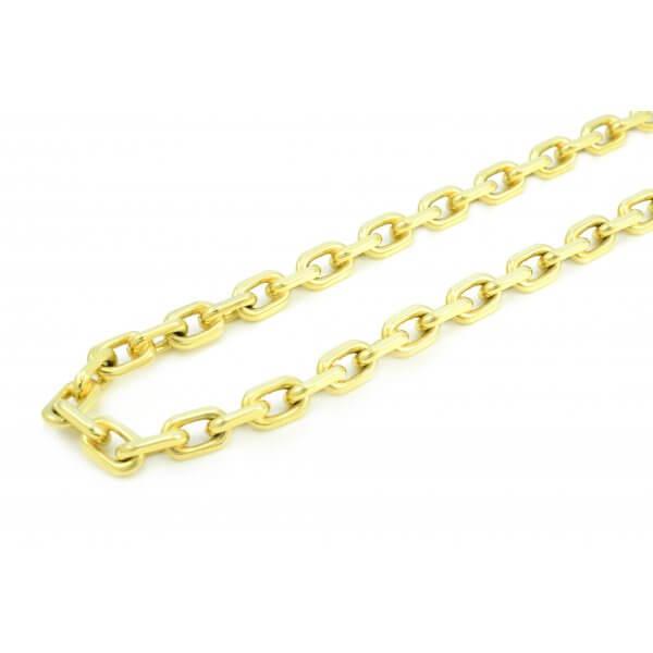 Zlatá pilovaná retiazka zo žltého zlata - Anker 3