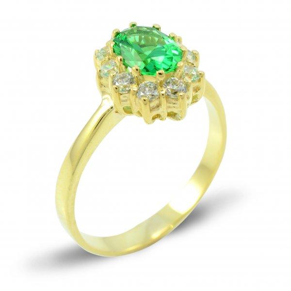 Prsteň zo žltého zlata- malá Diana