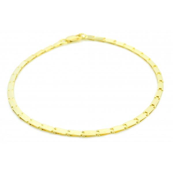 Náramok zo žltého zlata - úzky,plochý