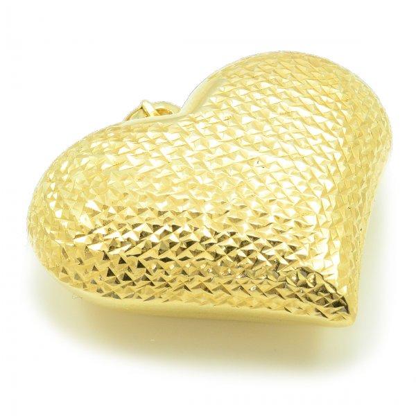 Prívesok zo žltého zlata- Veľké srdce