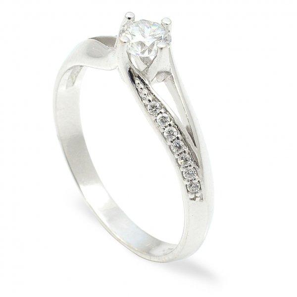 Zásnubný prsteň z bieleho zlata - Júlia