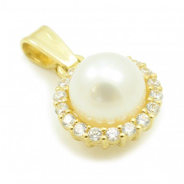 Prívesok zo žltého zlata - Perla