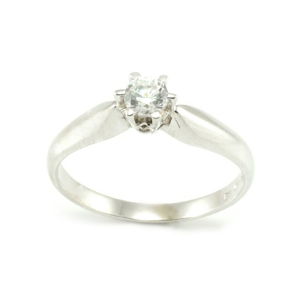Zásnubný prsteň z bieleho zlata Andrea
