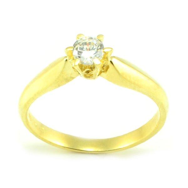 Zásnubný prsteň zo žltého zlata Andrea