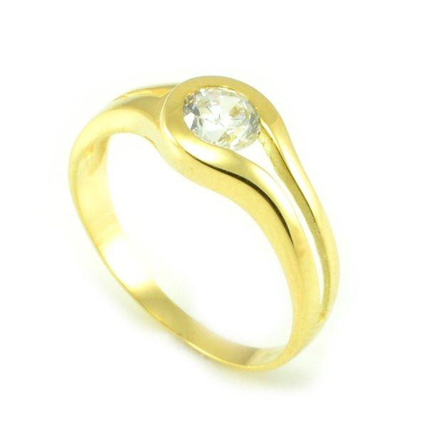 Zásnubný prsteň zo žltého zlata Sofia