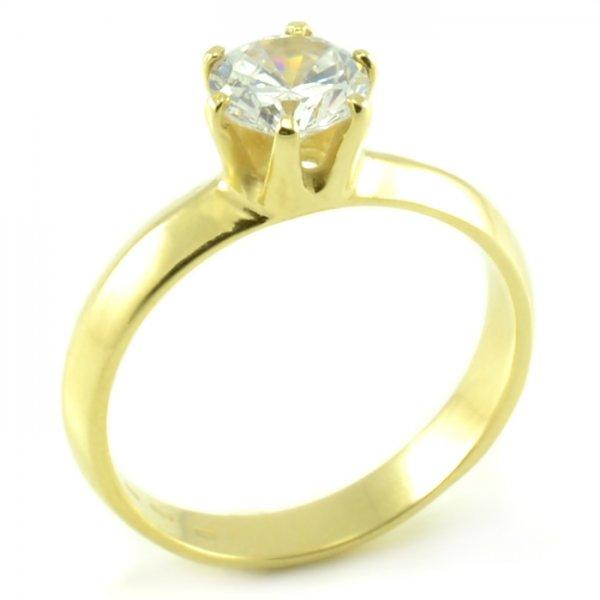 Zásnubný prsteň zo žltého zlata so skosenou šínou Tamara