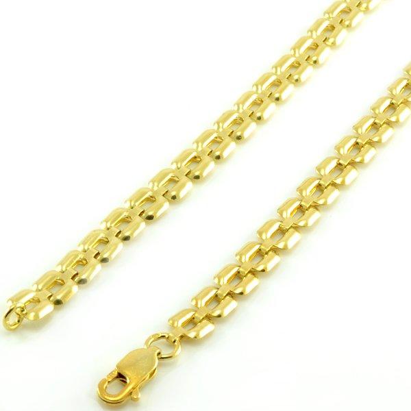 Náhrdelník zo žltého zlata-plastický vzor