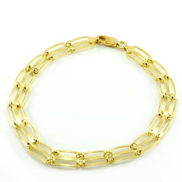 Náramok zo žltého zlata-dierkovný