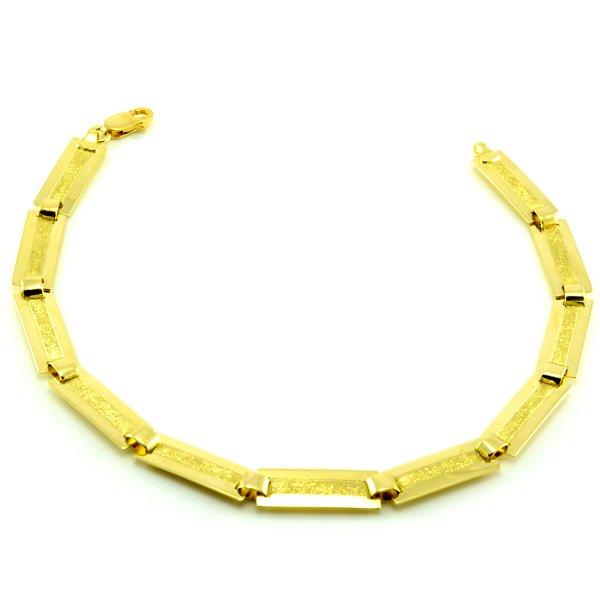 Náramok zo žltého zlata-platničkový