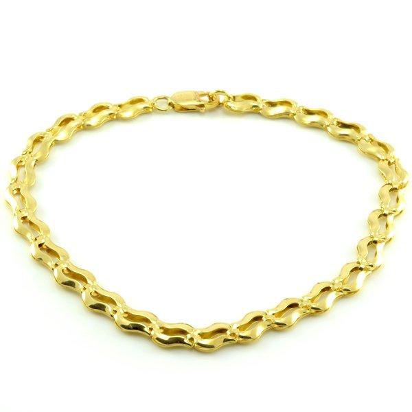 Náramok zo žltého zlata-vlnkový