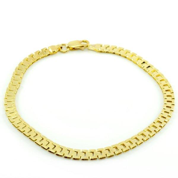 Náramok zo žltého zlata s pravidelným pancierovým vzorom