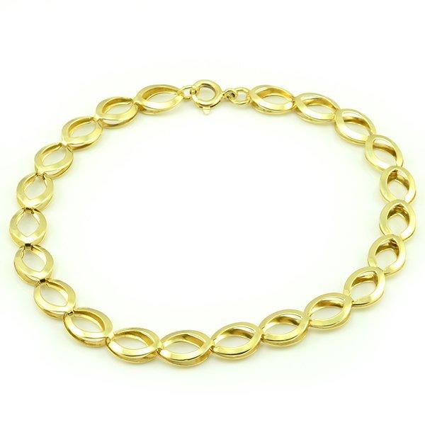 Náramok zo žltého zlata- mušľa