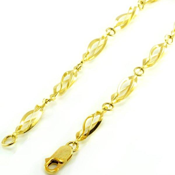 Retiazka zo žltého zlata- točená