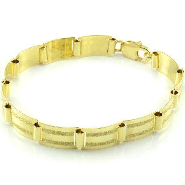 Zlatý náramok-platničkový, jemne matovaný