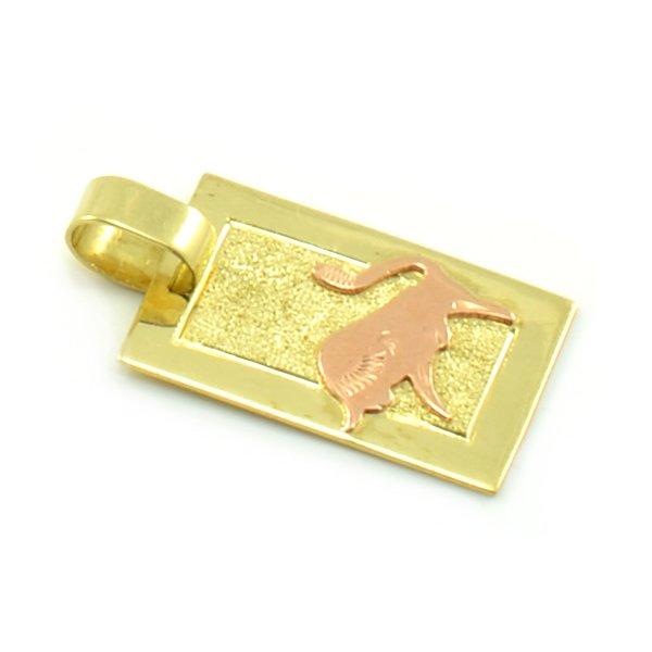 Zlatý platničkový prívesok - znamenie býk