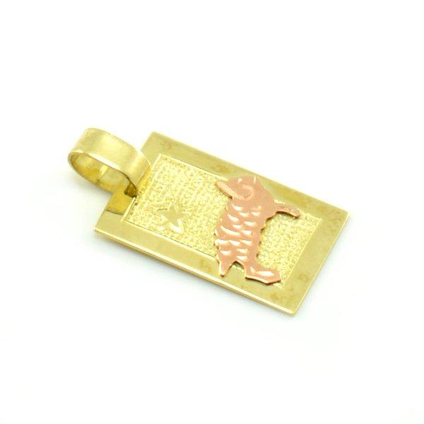 Zlatý platničkový prívesok - znamenie baran