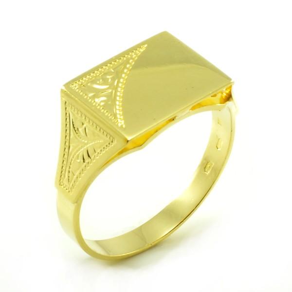 Zlatý pánsky pečatný prsteň zo žltého zlata