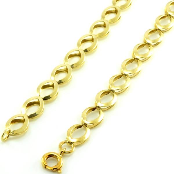 Náhrdelník zo žltého zlata-veľké očká