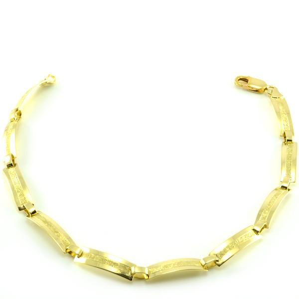 Náramok zo žltého zlata-platničkový úzky