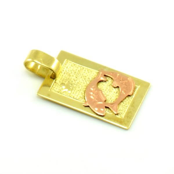 Zlatý platničkový prívesok - znamenie ryby