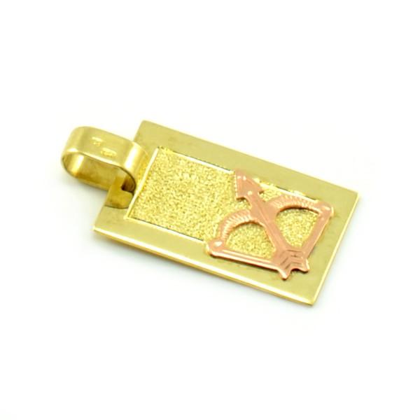 Zlatý platničkový prívesok - znamenie strelec
