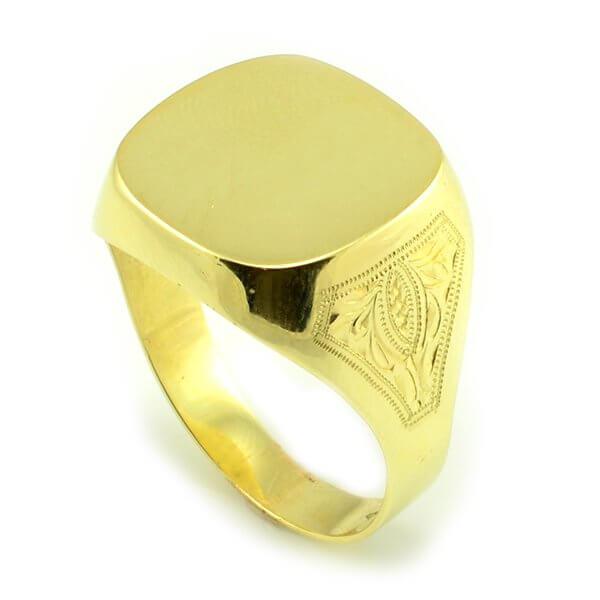 Zlatý pánsky štvorcový prsteň celozlatý