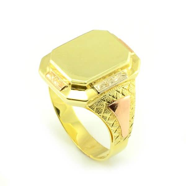 Zlatý pánsky pečatný prsteň celozlatý