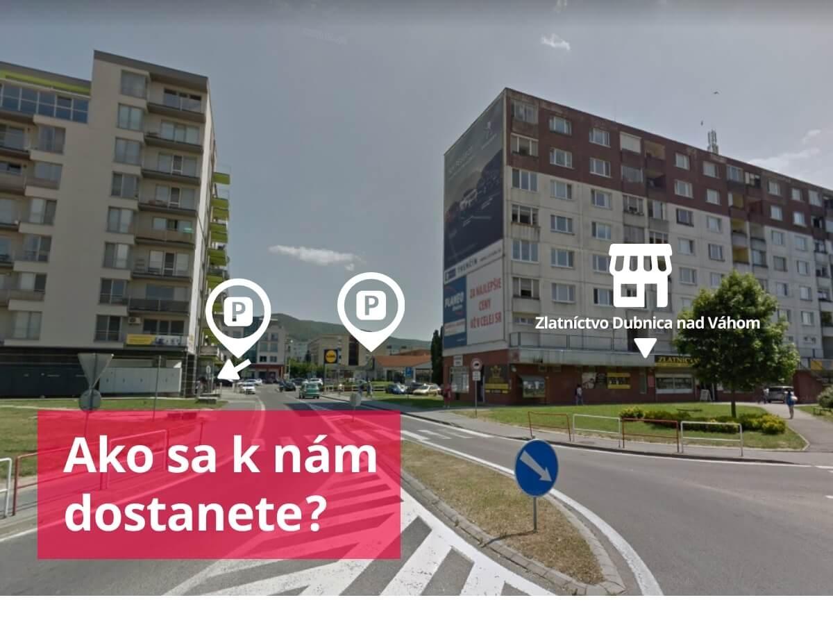 eZlatníctvo Dubnica - ako sa k nám dostanete autom?
